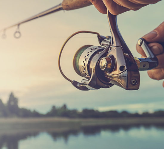A fishing reel - Angling insurance with Rockland Insurance Brokers